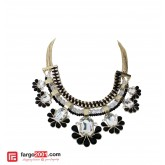 Black Flower Premium Necklace