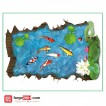3D Wallpaper Sticker Ikan Pond (90 x 60cm) - WPP003