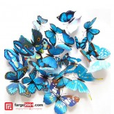 Magnetic Butterfly Wall Sticker Blue