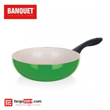 Wok Pan With Ceramic Non - Stick Surface (28cm) Green